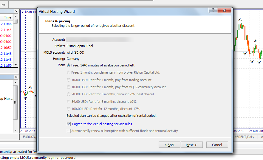 Virtual server forex trading